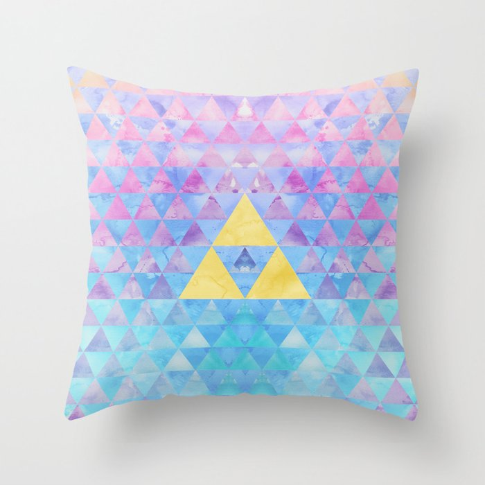 Zelda Throw Pillows : Zelda Geometry Throw Pillow by Enthousiasme Society6