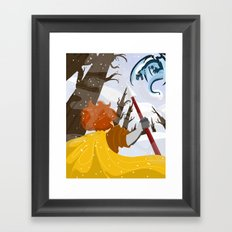 fighting fire with fire Framed Art Print
