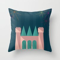 Princess Castle | Disney inspired Throw Pillow