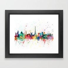 Paris France Skyline Framed Art Print