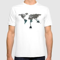 greed Mens Fitted Tee SMALL White