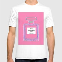 No5 Pink Mens Fitted Tee White SMALL