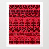 Gran's Blanket Art Print