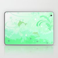 Dolphins Swimming Laptop & iPad Skin