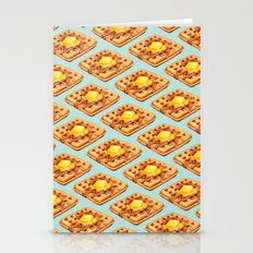 Waffle Pattern Stationery Cards