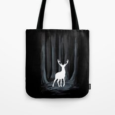 Glowing White Stag Tote Bag