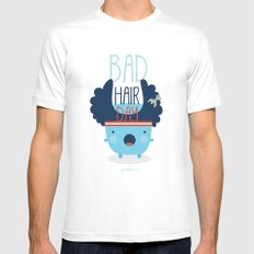 Bad Hair Day SMALL Mens Fitted Tee White