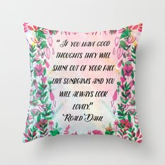 Roald Dahl Throw Pillow