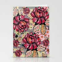 Roses and cherry blossom pattern Stationery Cards