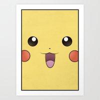 Pikachu - Minimal Pokemo… Art Print