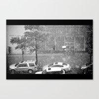Rainy NYC Sidewalk Canvas Print