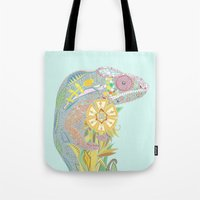 Chameleon Pastel Mint Tote Bag