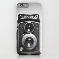 iPhone & iPod Case featuring Yashica-A black and white by Victoria Dawn Burgamy