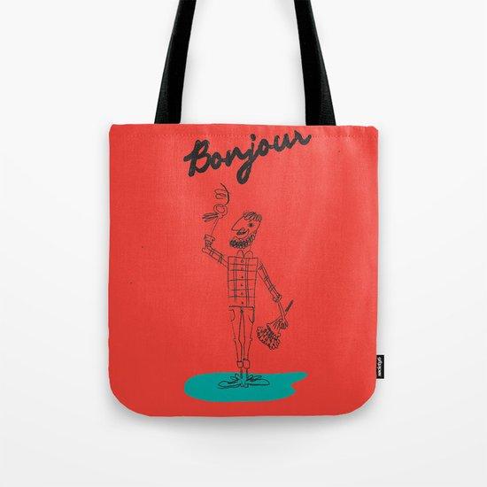 """The Ink - """"Bonjour"""" Tote Bag"""