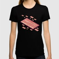 A Fleet Of Baconships Fl… Womens Fitted Tee Black SMALL