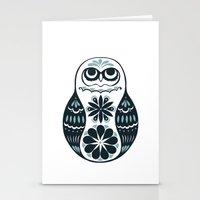 Flower Owl Matryoshka - … Stationery Cards