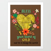 Bless your Heart of Gold Art Print