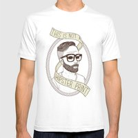 This Is Not A Hipster Pr… Mens Fitted Tee White SMALL