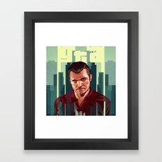 The Godfather, GTA 5 Michael Framed Art Print