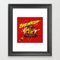 Baewatch - Wet Electric Framed Art Print