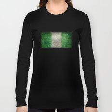 National flag of Nigeria, Vintage retro style Long Sleeve T-shirt