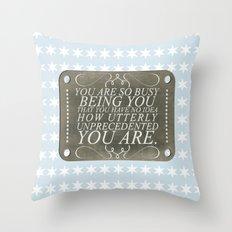 Unprecedented Throw Pillow