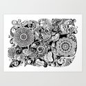 Botanical Pattern Art Print