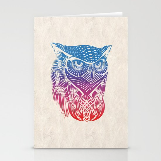 Owl of Color Stationery Card