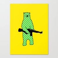 Dot Bear Canvas Print