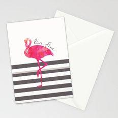 Live Free Flamingo  Stationery Cards