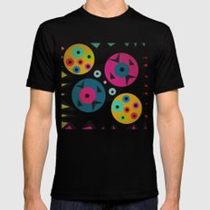 mixed shapes Black Mens Fitted Tee SMALL