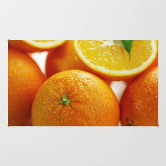 Fresh Orange for the Kitchen Rug by Tanja Riedel