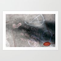 It's Just Words - #OWS Art Print