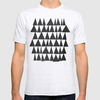 Analogous Shapes. Mens Fitted Tee Ash Grey SMALL