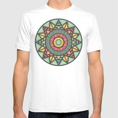 Aztec White SMALL Mens Fitted Tee