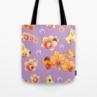 Orchids & Ladybirds Tote Bag