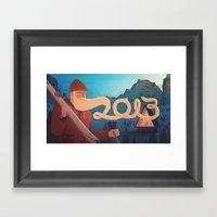 Golden Beard - 2013 Gree… Framed Art Print