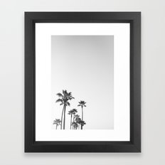 Black and White California Palms Framed Art Print