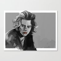 He must be thinking about something silly Canvas Print