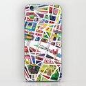 A map of Paris iPhone & iPod Skin