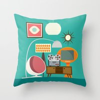 Junkshop Window Throw Pillow