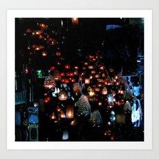 Lanterns in the Souk, Istanbul Art Print