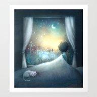 Art Print featuring Not Sleepy by Lisa Evans