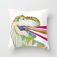 Dinosaur / August Throw Pillow