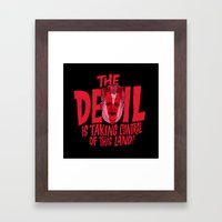 The Devil and Lee Bright  Framed Art Print