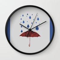 It Will Rain Wall Clock