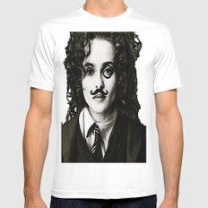 Helena Bonham... Chaplin? SMALL White Mens Fitted Tee