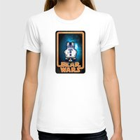 Bear Wars - GRRR2D2 Womens Fitted Tee White SMALL