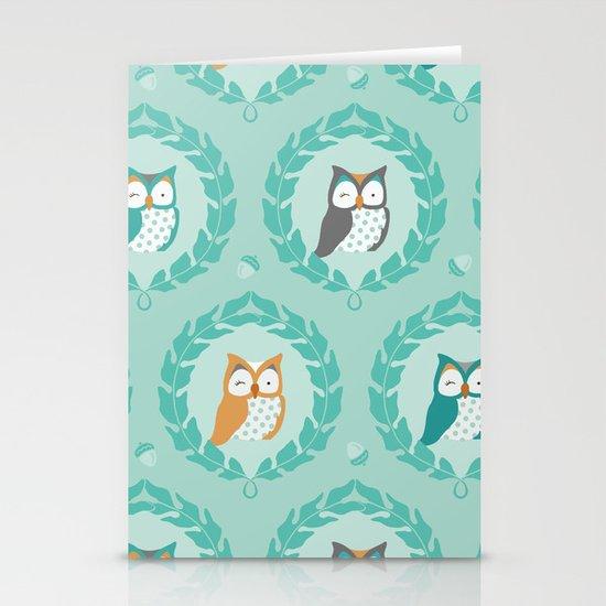 Sweet Owlies - Dusk Stationery Card