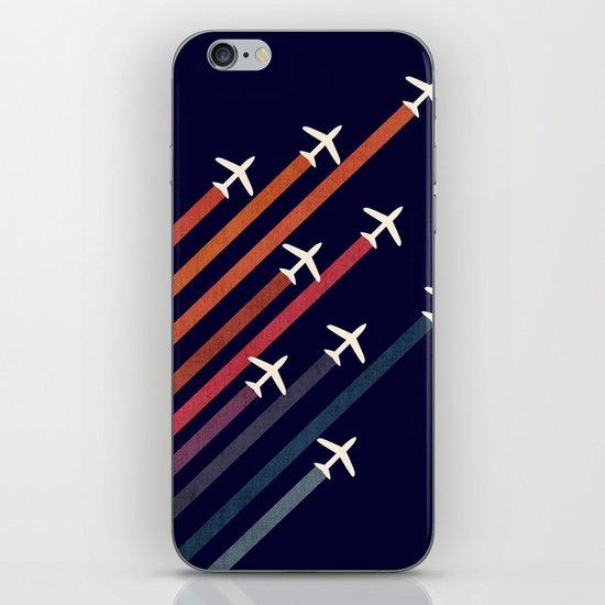 Aerial acrobat iPhone & iPod Skin